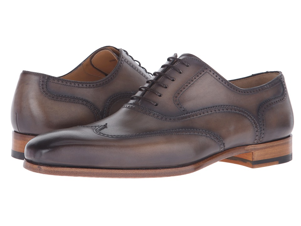 Magnanni - Kiral (Castana) Men's Lace Up Wing Tip Shoes