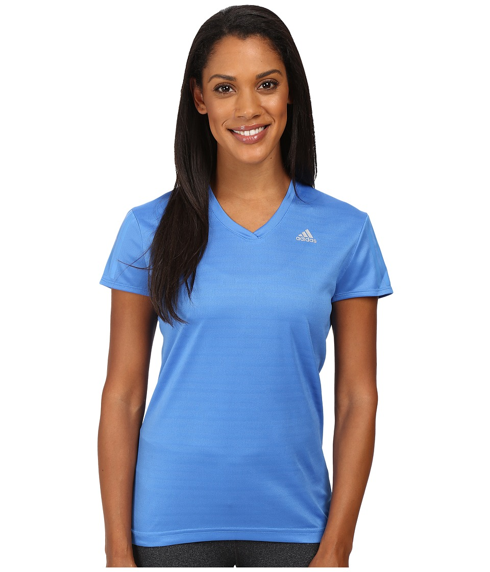 adidas - Response Short Sleeve Tee (Ray Blue/Reflective Silver) Women's T Shirt