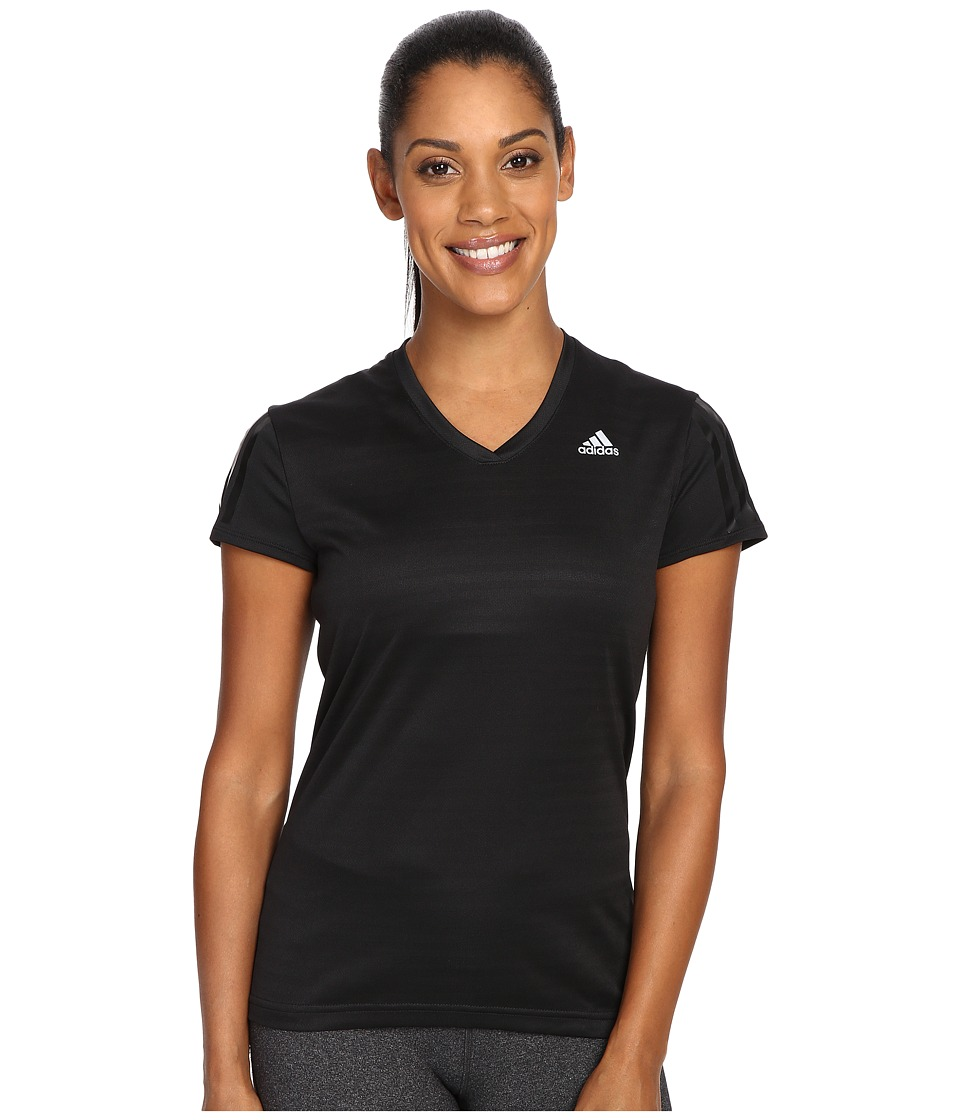 adidas - Response Short Sleeve Tee (Black/Reflective Silver) Women's T Shirt