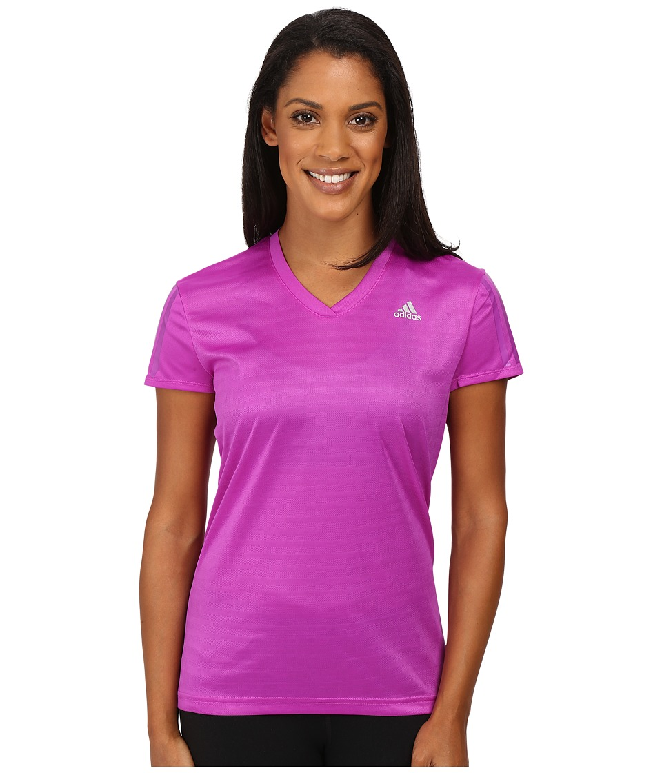 adidas - Response Short Sleeve Tee (Shock Purple/Reflective Silver) Women's T Shirt