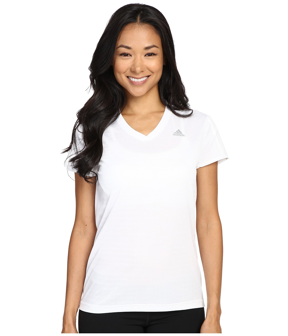 adidas - Response Short Sleeve Tee (White/Reflective Silver) Women's T Shirt