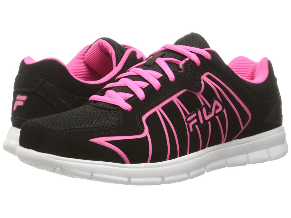 Fila - Escalight (Black/Knockout Pink/White) Women's Shoes