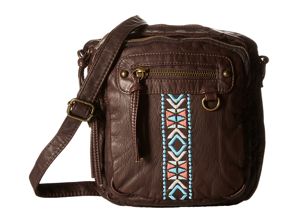 Gabriella Rocha - Cambrie Crossbody with Embroidered Detail (Brown) Cross Body Handbags