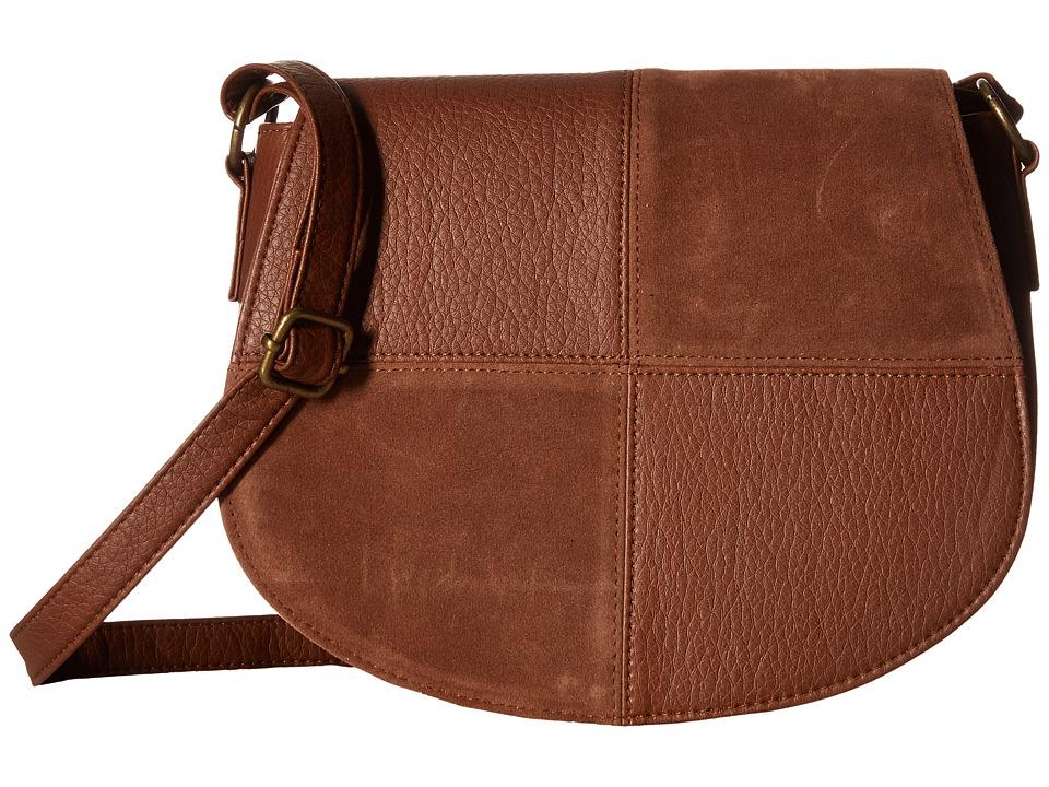 Gabriella Rocha - Caden Patchwork Crossbody (Cognac) Cross Body Handbags