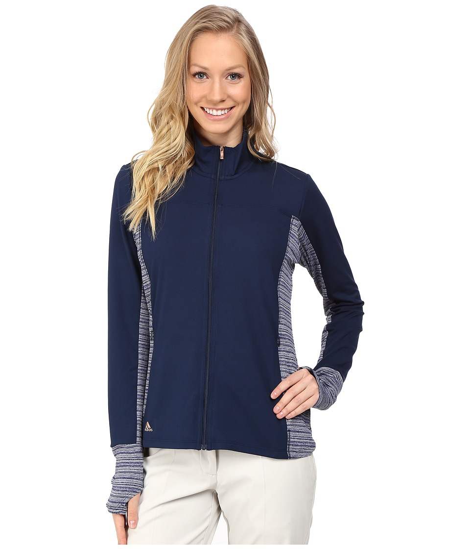 adidas Golf - Rangewear Full Zip (Collegiate Navy) Women's Clothing