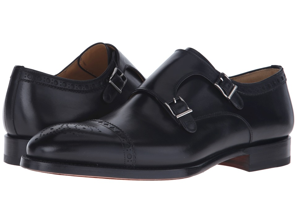 Magnanni - Villar II (Black) Men's Monkstrap Shoes
