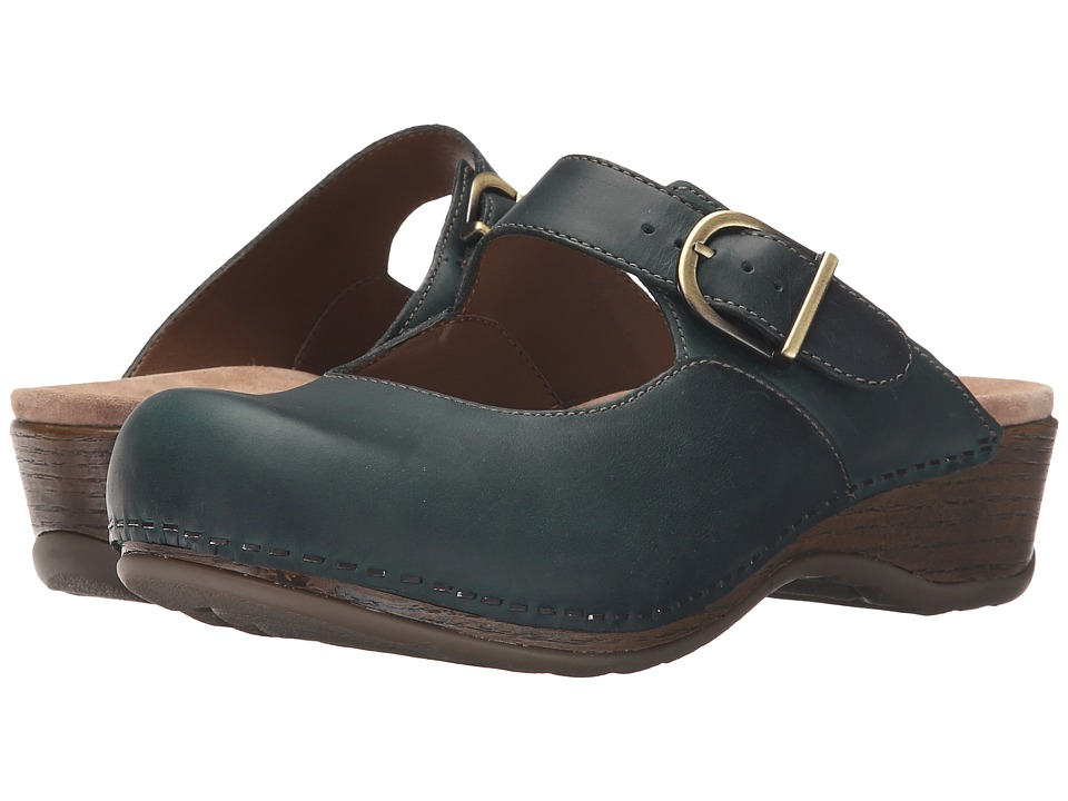 Dansko - Martina (Teal Oiled) Women's Clog Shoes