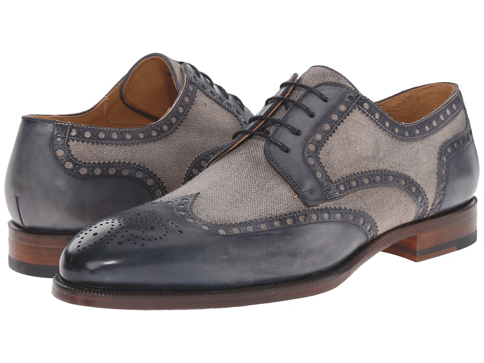 Magnanni - Artea (Navy) Men's Lace Up Wing Tip Shoes