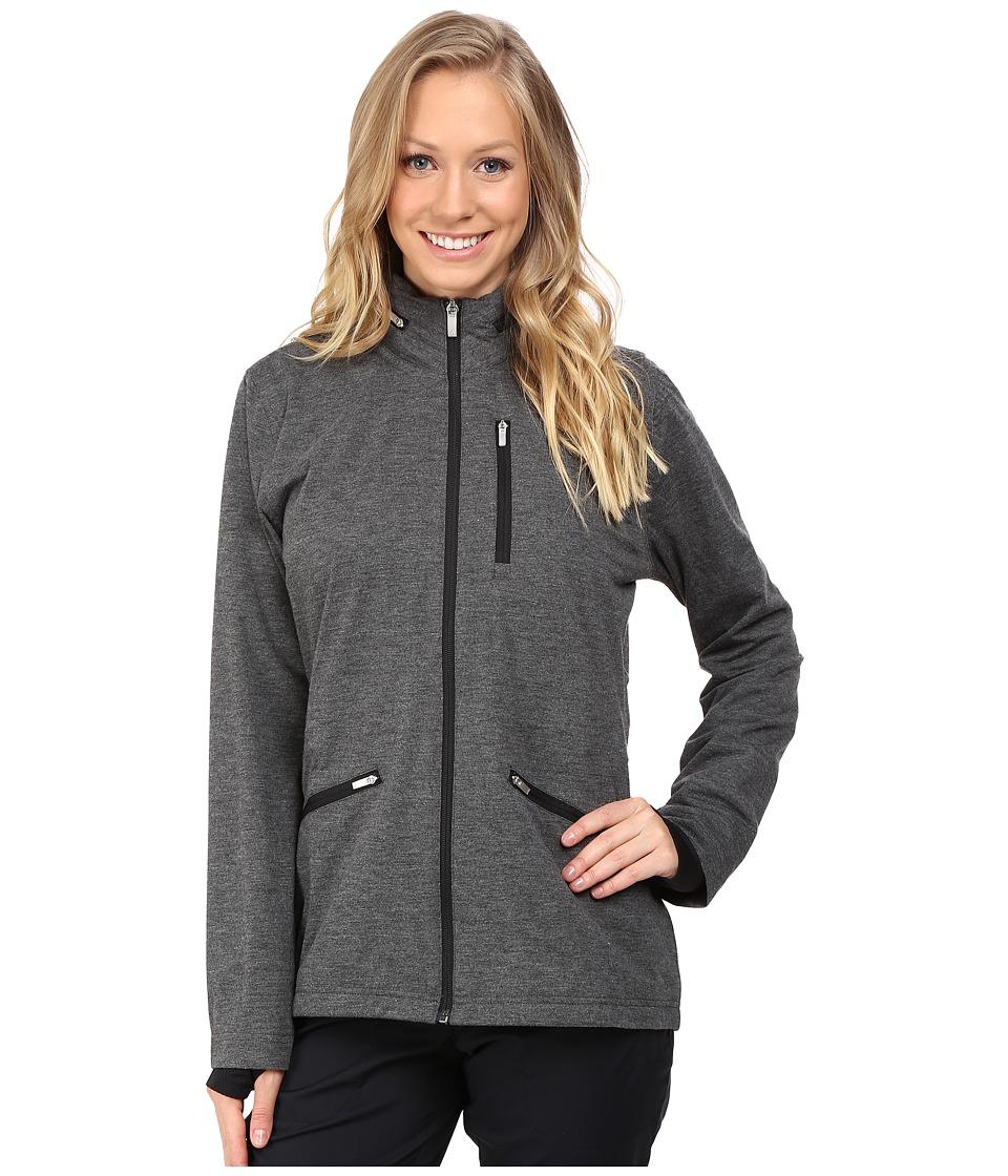 adidas Golf - CLIMAPROOF(r) Softshell Jacket (Black Heather) Women's Coat