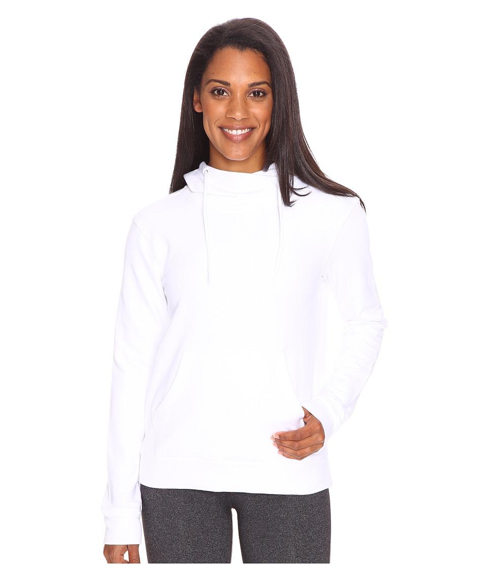 adidas - 247365 Pullover Hoodie (White) Women's Sweatshirt