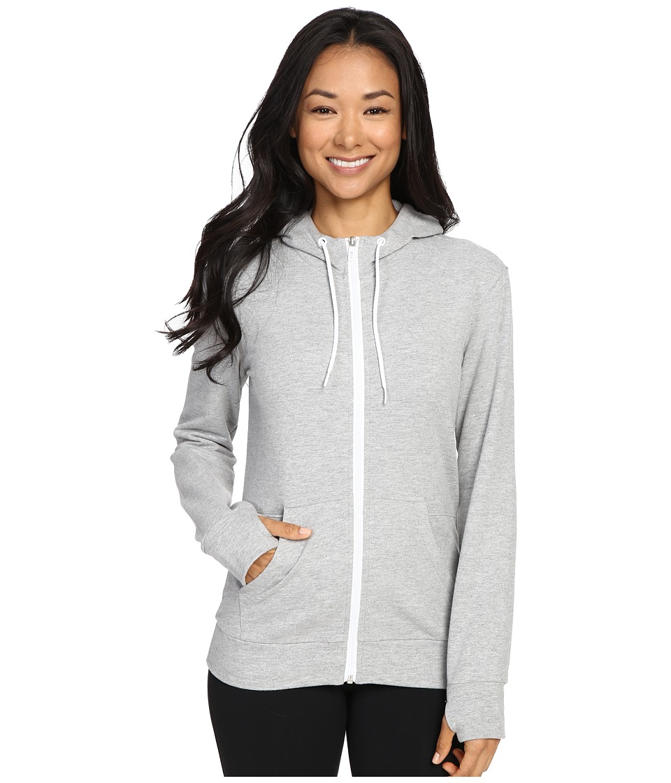 adidas - 247365 Full Zip Hoodie (Medium Grey Heather) Women's Sweatshirt