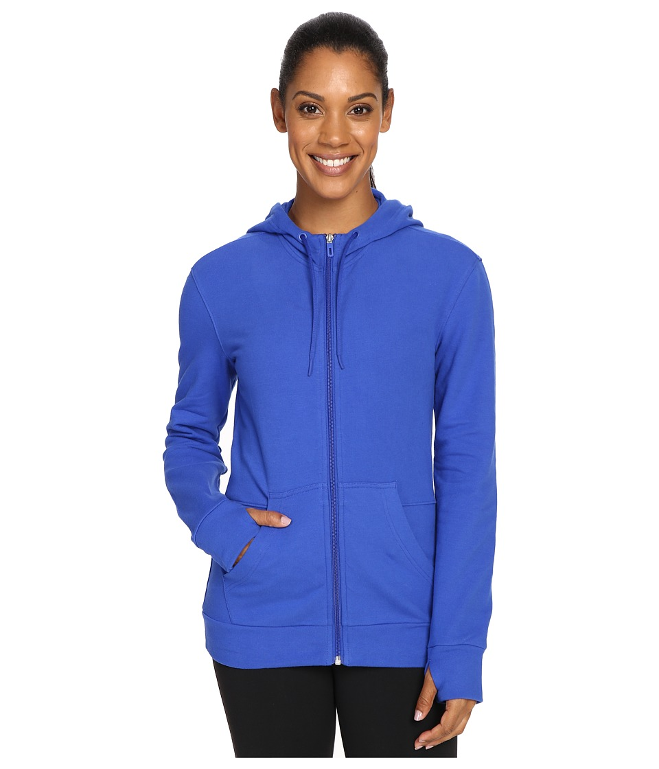 adidas - 247365 Full Zip Hoodie (Bold Blue) Women's Sweatshirt