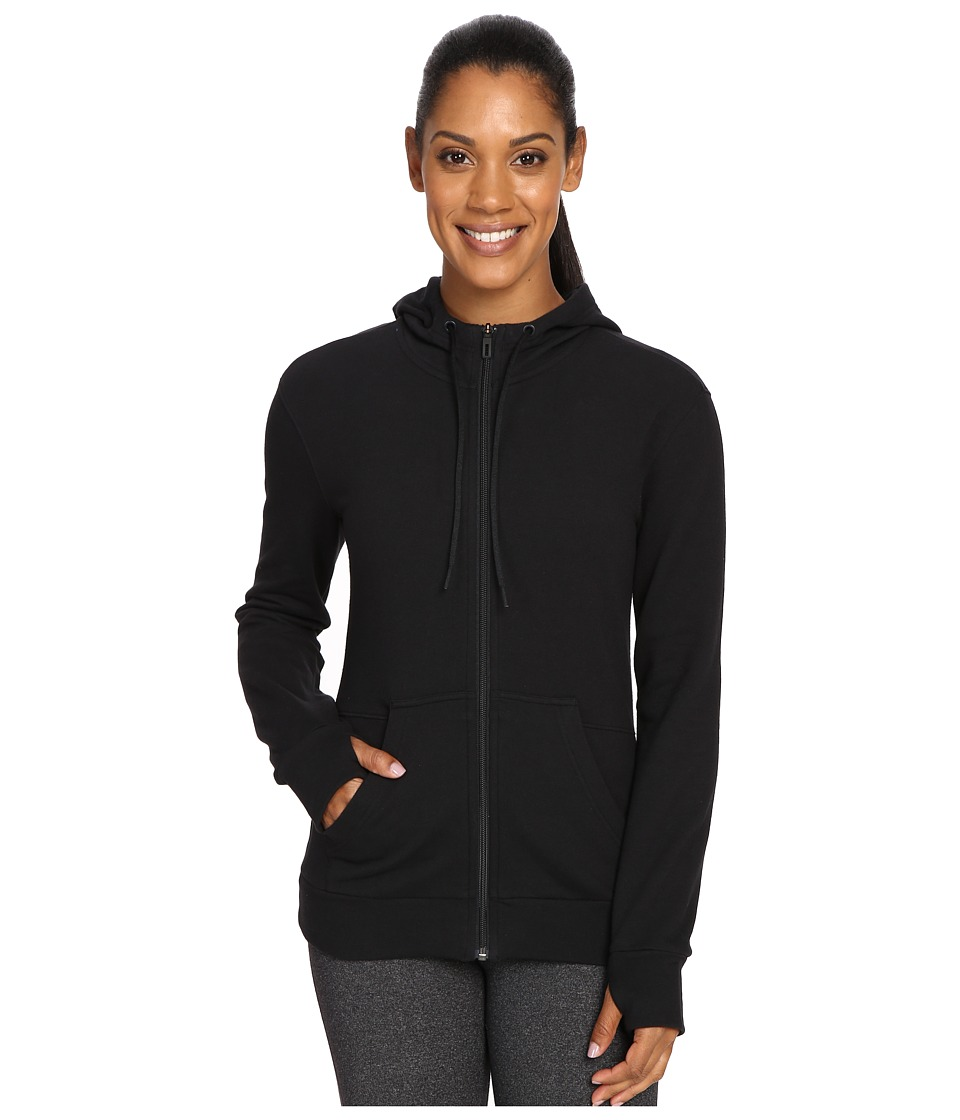 adidas - 247365 Full Zip Hoodie (Black) Women's Sweatshirt