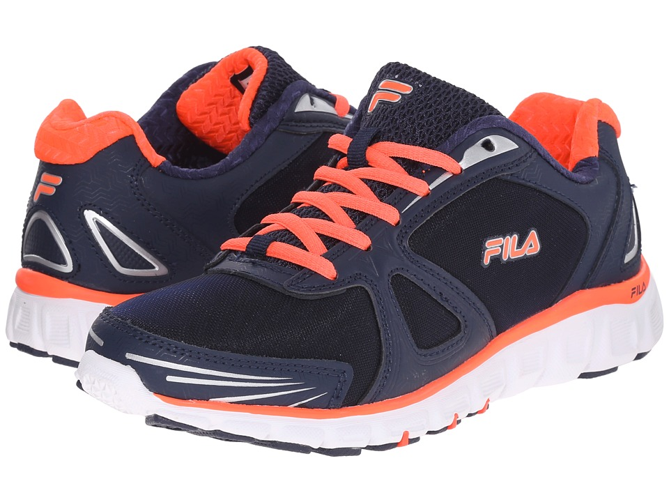 Fila - Memory Solidarity (Fila Navy/Fiery Coral/White) Women's Shoes