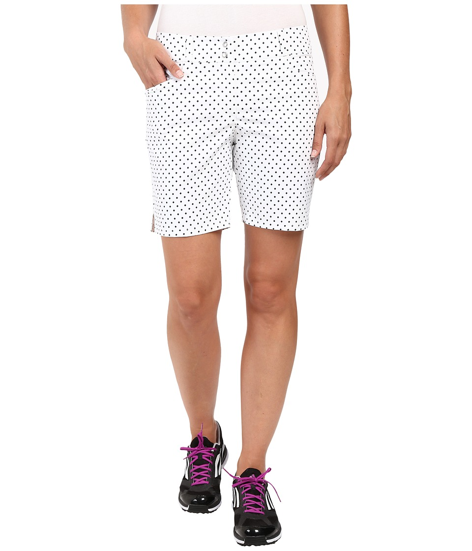 adidas Golf - 7 Printed Diamond Shorts (White) Women's Shorts