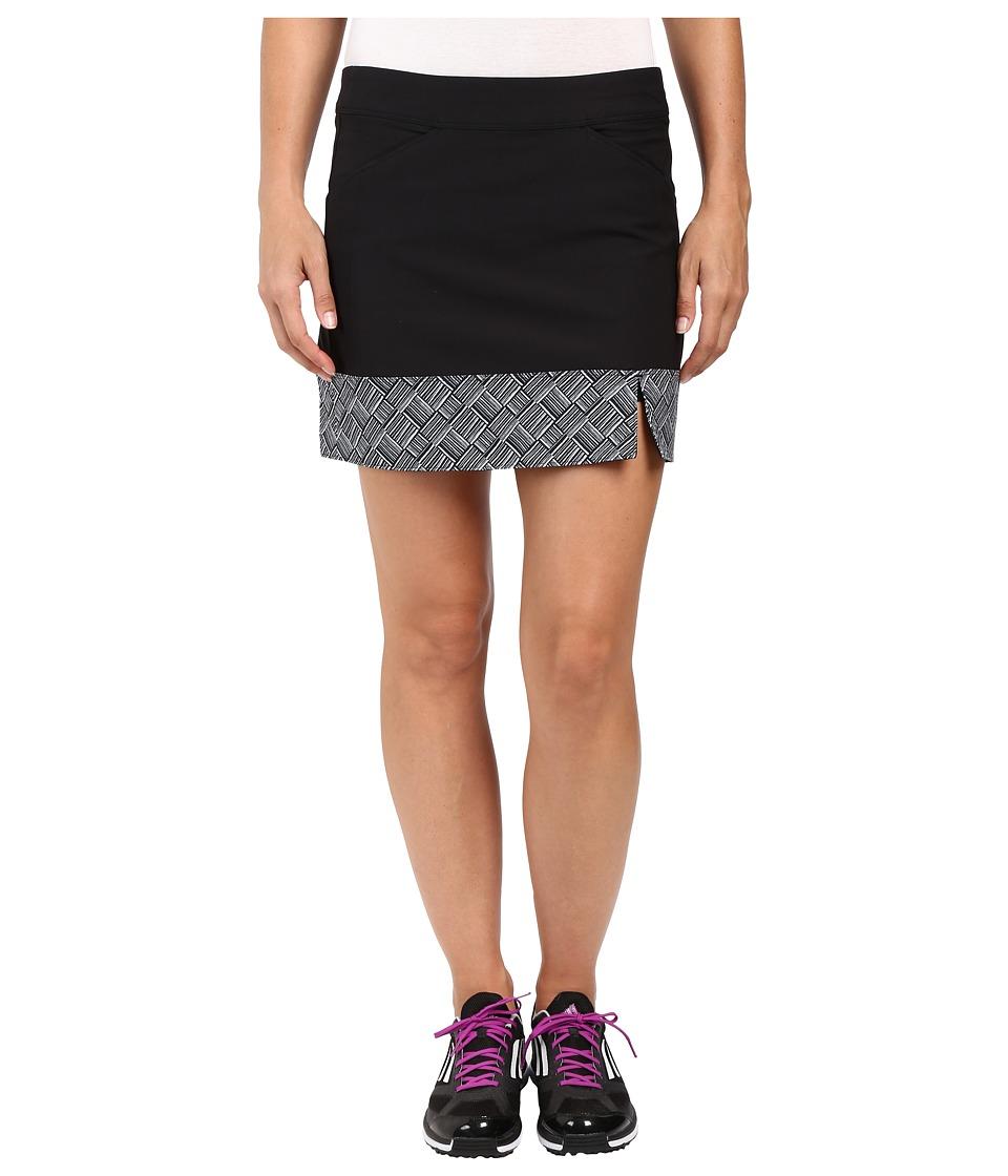 adidas Golf - Adistar Printed Hem Skort (Black) Women's Skort