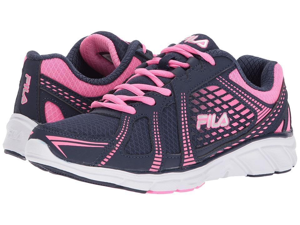 Fila - Memory Passage (Fila Navy/Sugarplum/Metallic Silver) Women's Shoes