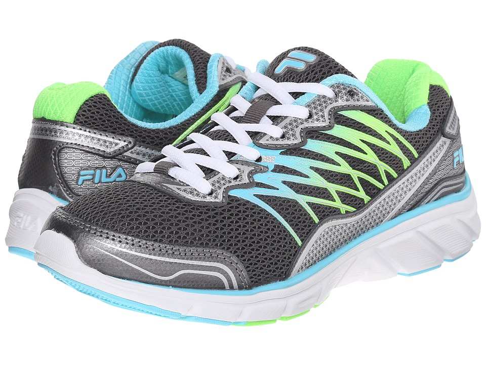 Fila - Countdown 2 (Dark Silver/Bluefish/Green Gecko) Women's Shoes