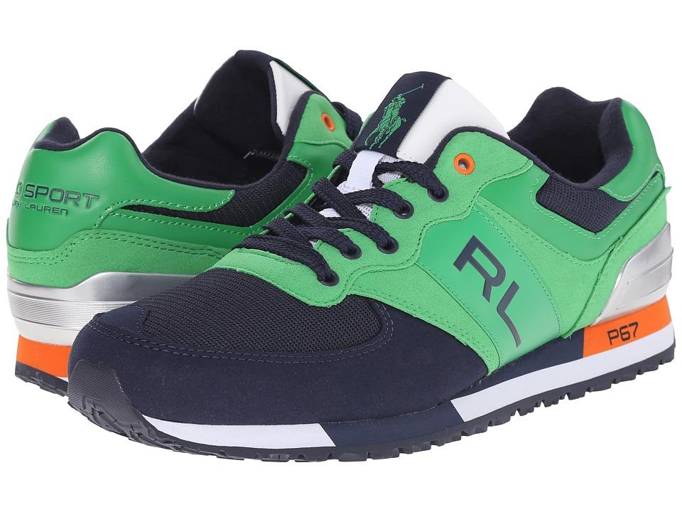 Polo Ralph Lauren - Slaton RL (Preppy Green/Newport Navy Tech Leather/Tech Suede) Men's Lace up casual Shoes