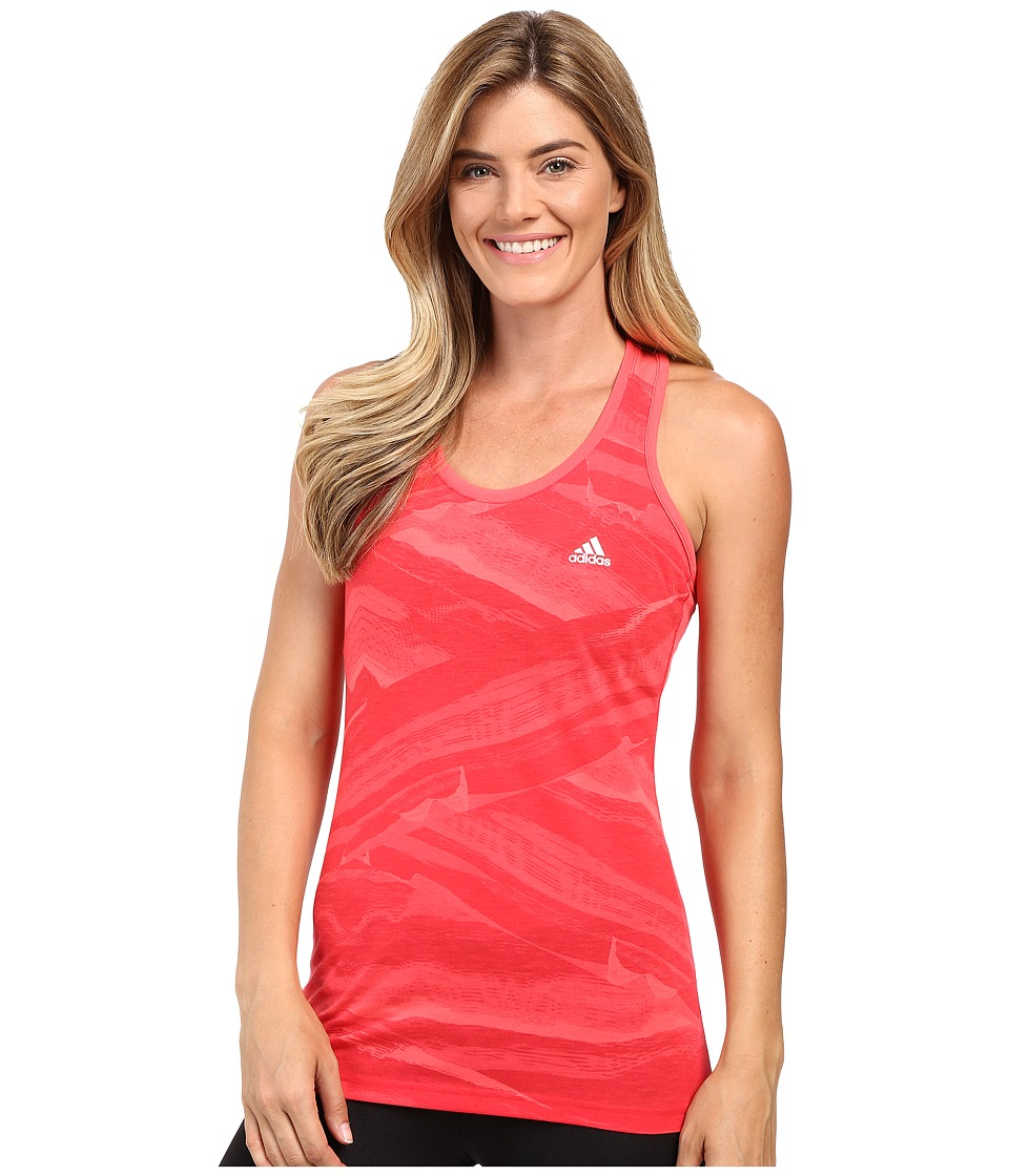 adidas - Ultimate Tank Top Palm Desert Tonal (Ray Red/Print/Matte Silver) Women's Sleeveless