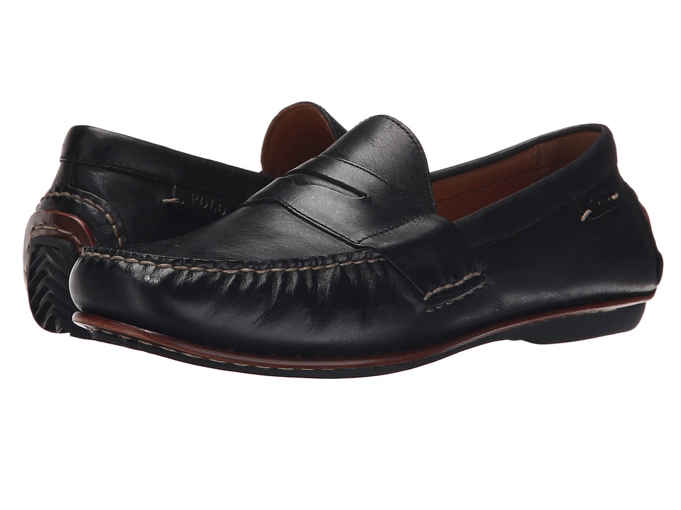 Polo Ralph Lauren - Daniels (Black Smooth Oil Leather) Men's Shoes