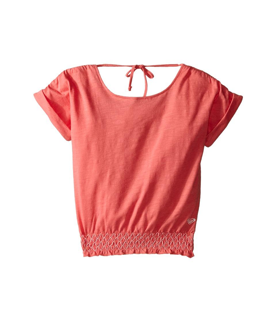 Roxy Kids - Zinnia Top (Toddler/Little Kids) (Tea Rose) Girl's Short Sleeve Pullover