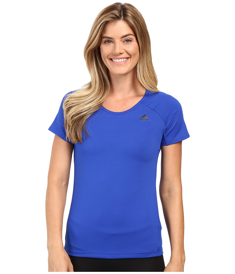 adidas - Basic Performance Tee (Bold Blue) Women's T Shirt