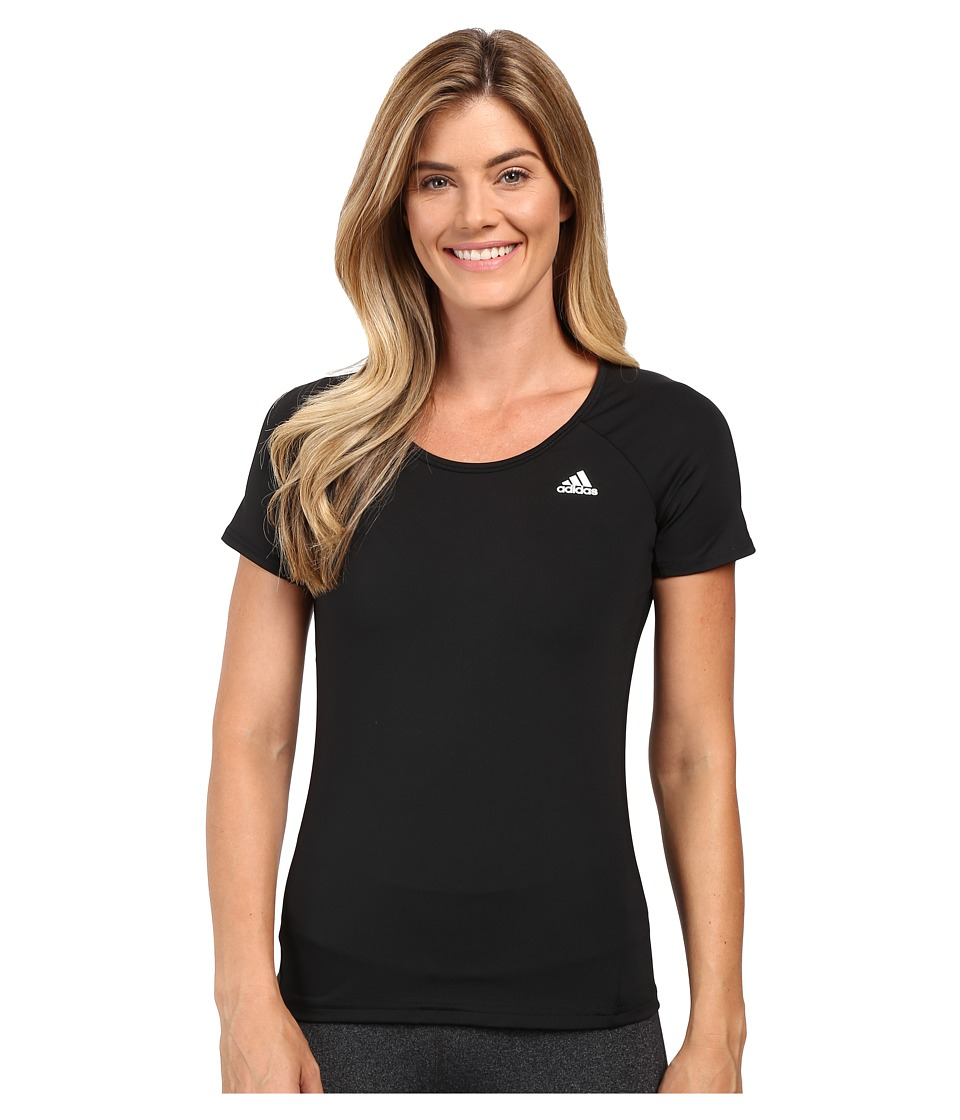 adidas - Basic Performance Tee (Black) Women's T Shirt