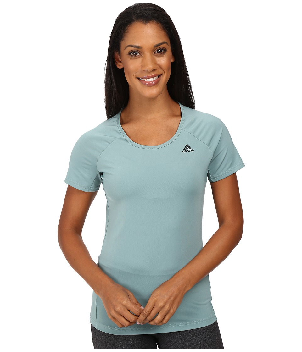 adidas - Basic Performance Tee (Vapour Steel) Women's T Shirt