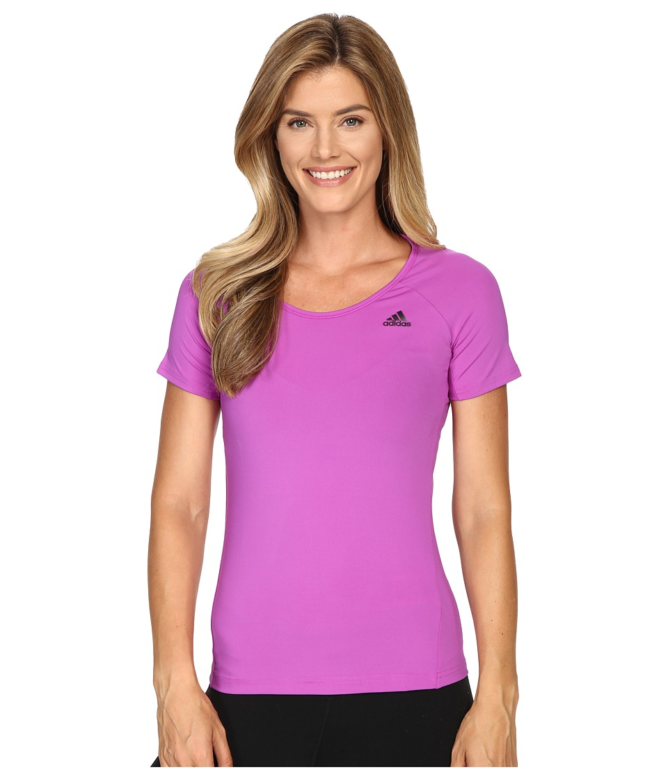 adidas - Basic Performance Tee (Shock Purple) Women's T Shirt