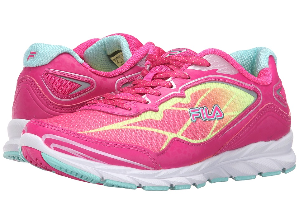 Fila - Finado (Pink Glo/Safety Yellow/Aruba Blue) Women's Shoes