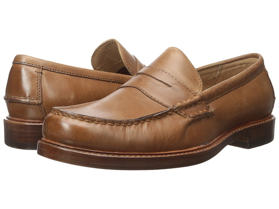 Polo Ralph Lauren - Dustan (Tan Burnished Leather) Men's 1-2 inch heel Shoes
