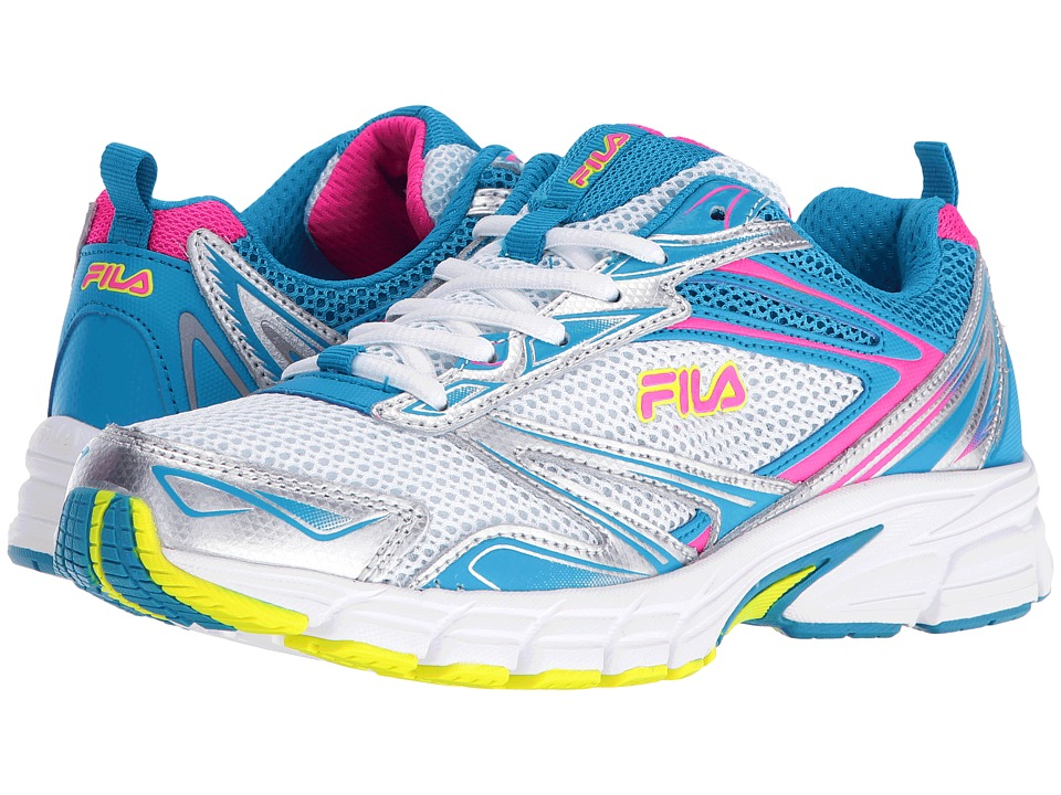 Fila - Royalty (Metallic Silver/Atomic Blue/Pink Glo) Women's Shoes