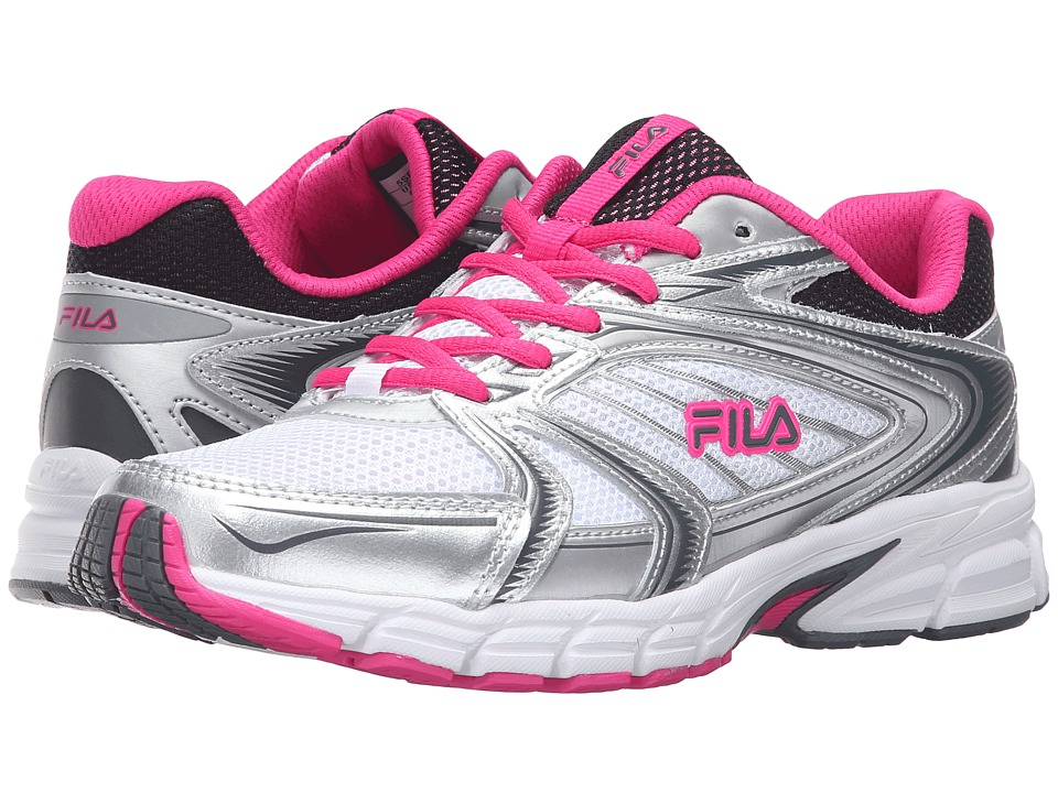 Fila - Reckoning 7 (White/Metallic Silver/Pink Glo) Women's Shoes