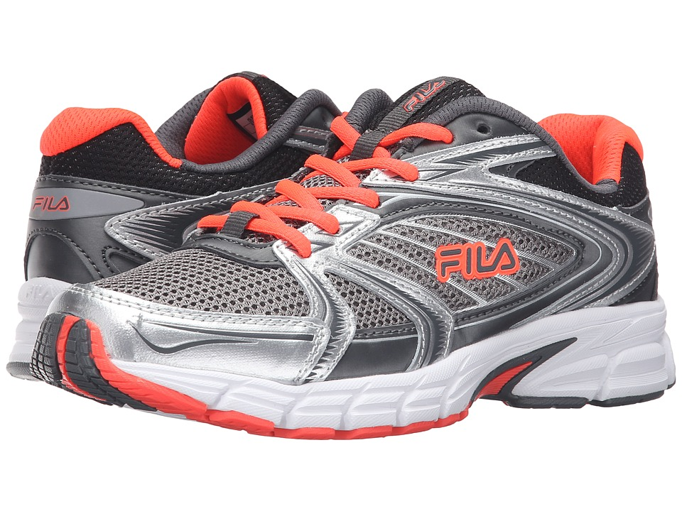 Fila - Reckoning 7 (Dark Silver/Castlerock/Fiery Coral) Women's Shoes