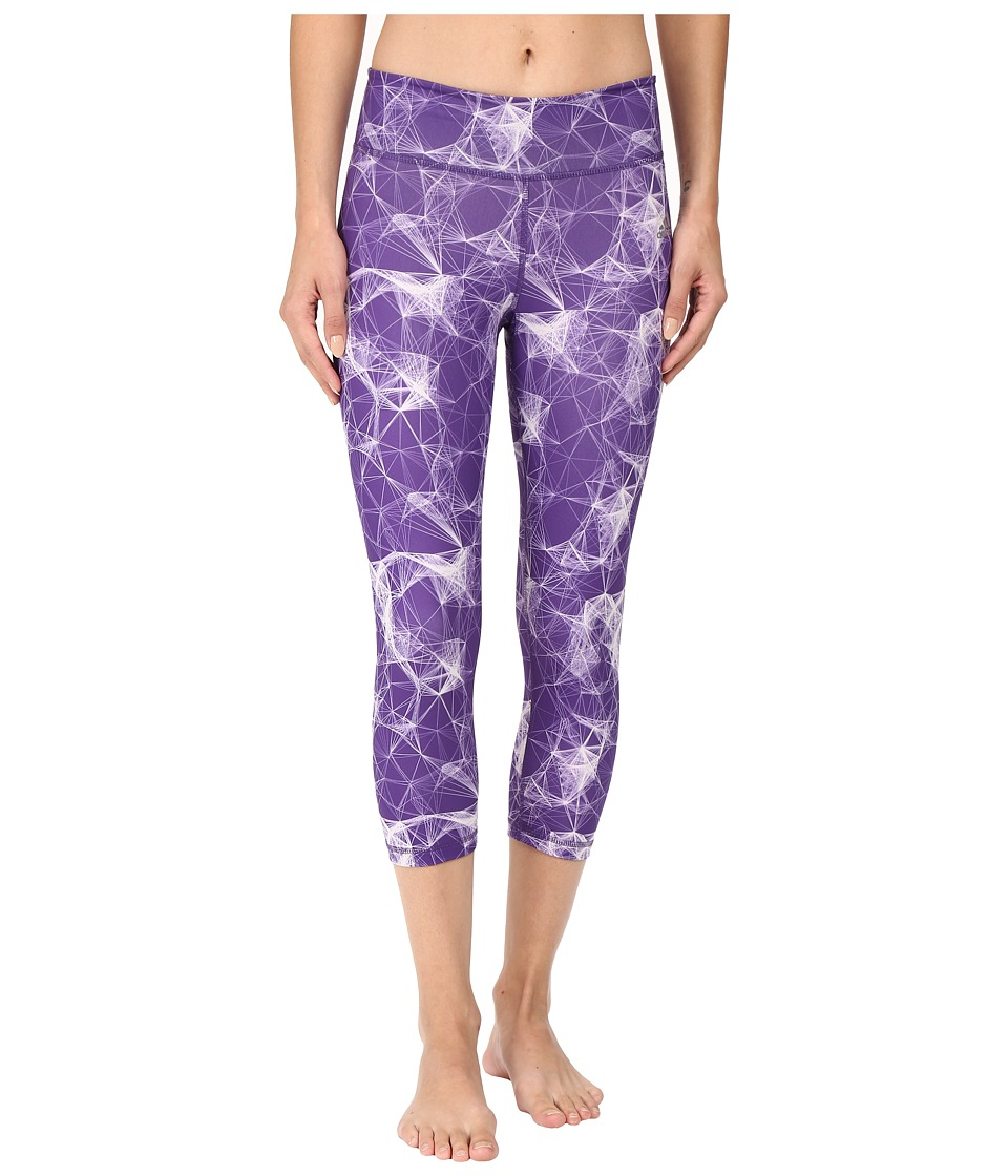 adidas - Clima Studio Mid-Rise 3/4 Tights Matrix (Unity Purple/Print/Matte Silver) Women's Casual Pants