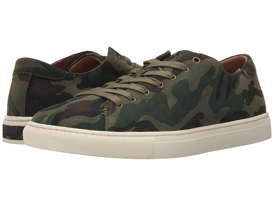 Polo Ralph Lauren - Jermain (Olive Camo Sport Suede) Men's Lace up casual Shoes