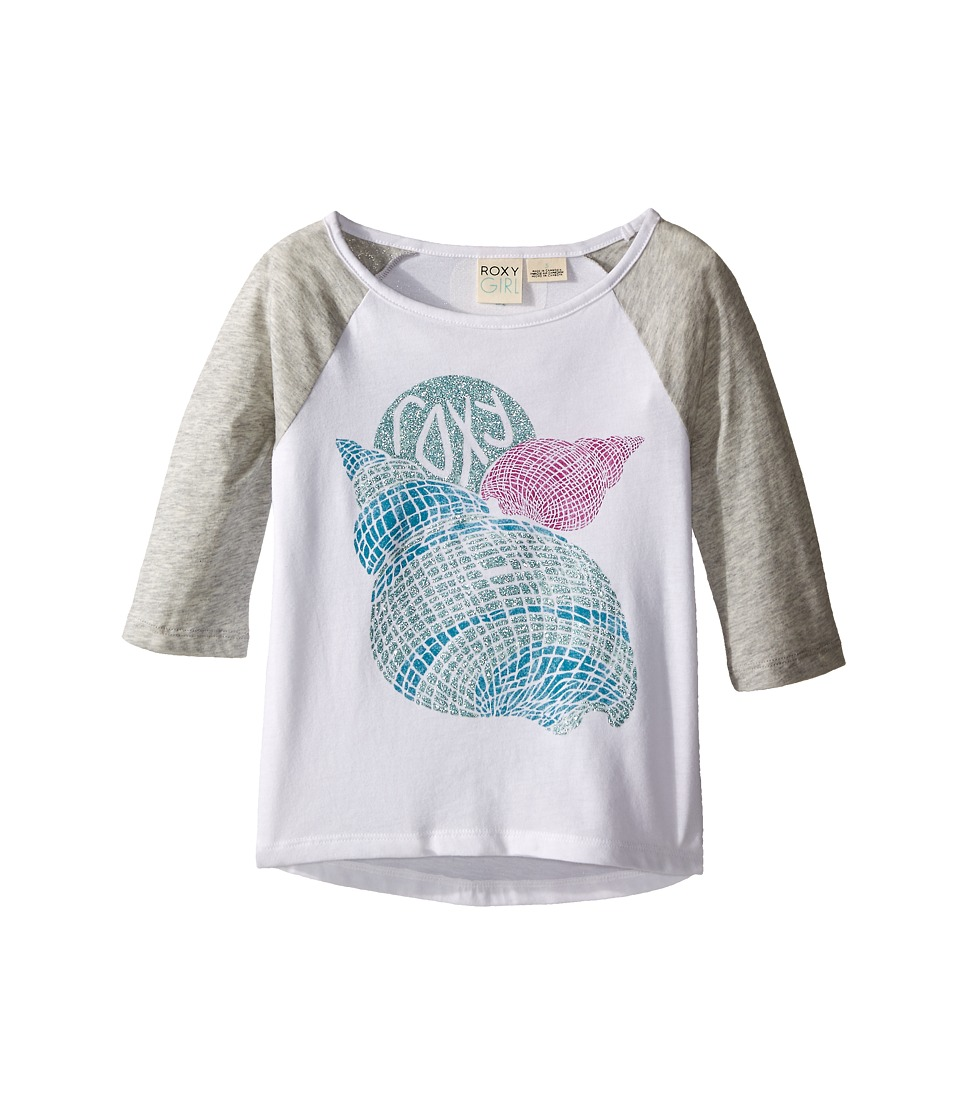 Roxy Kids - Boardwalk 3/4 Sleeve Tee (Toddler/Little Kids) (Medium Heather) Girl's Long Sleeve Pullover