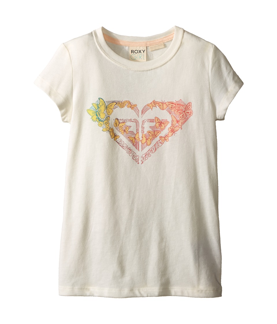 Roxy Kids - Flutter By Short Sleeve Tee (Toddler/Little Kids) (Sea Spray) Girl's Short Sleeve Pullover