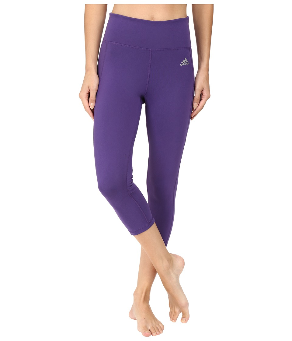 adidas - Clima Studio High Rise 3/4 Tights (Unity Purple/Matte Silver) Women's Casual Pants
