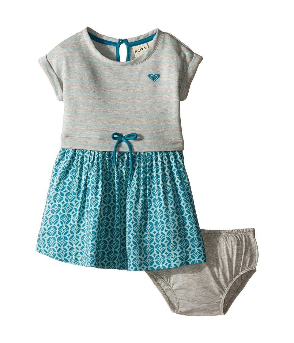 Roxy Kids - Ocean Tide Dress (Infant) (Medium Heather) Girl's Dress