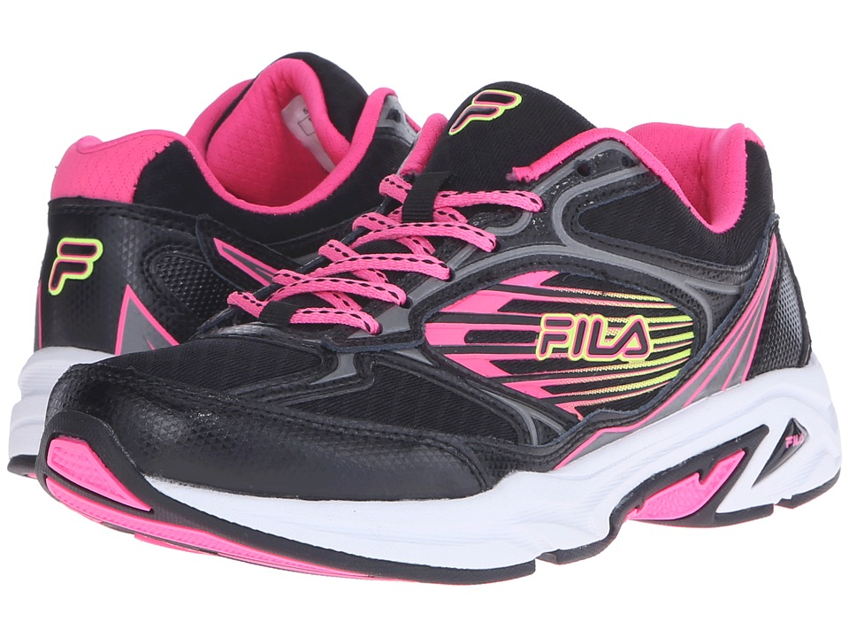 Fila - Inspell 3 (Black/Knockout Pink/Safety Yellow) Women's Shoes