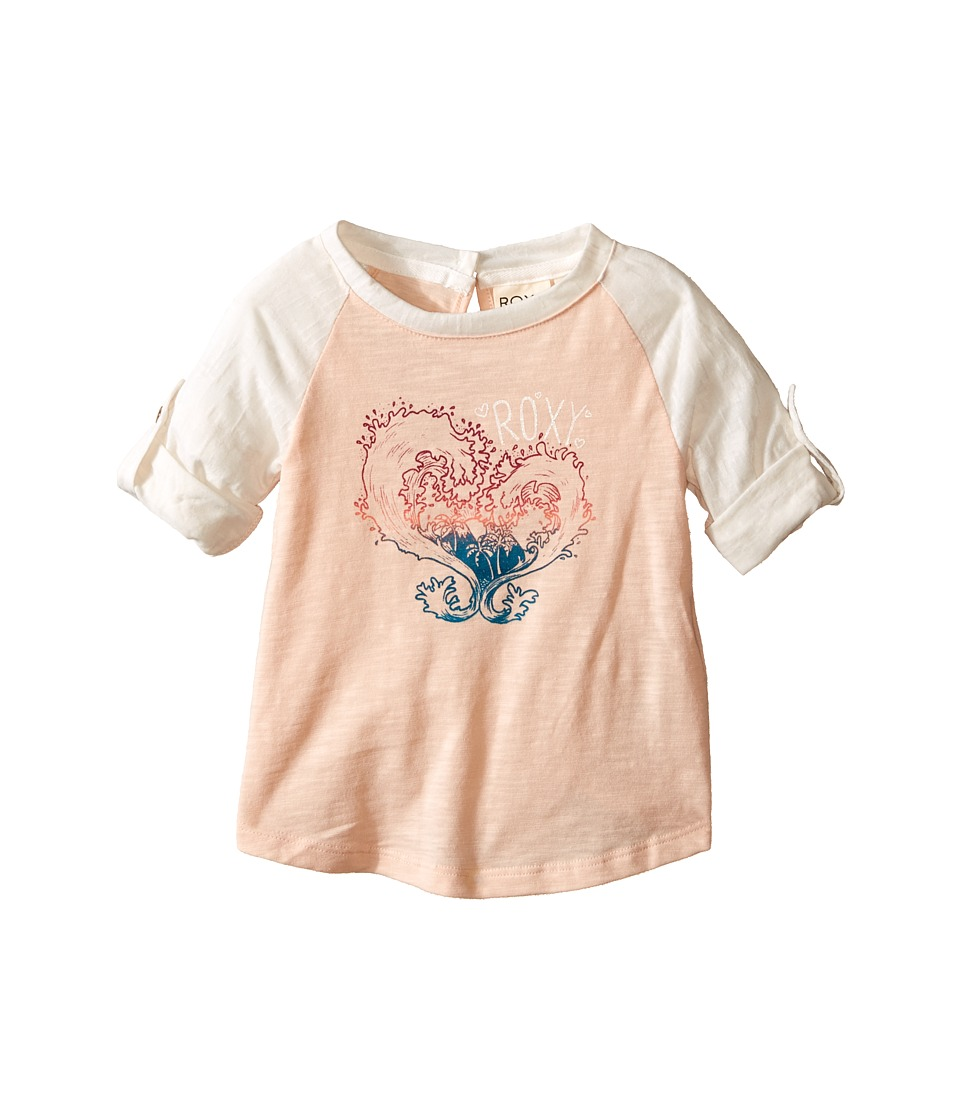 Roxy Kids - Waved Heart Tee (Infant) (Pale Peach) Girl's T Shirt