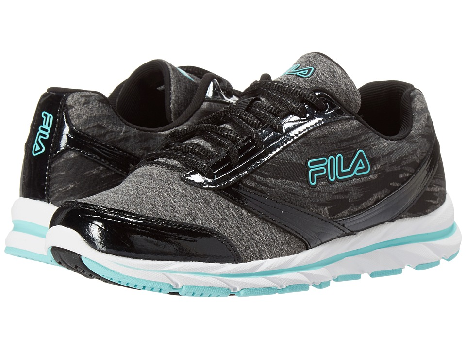 Fila - Memory Tempera (Black/Castlerock/Aruba Blue) Women's Shoes