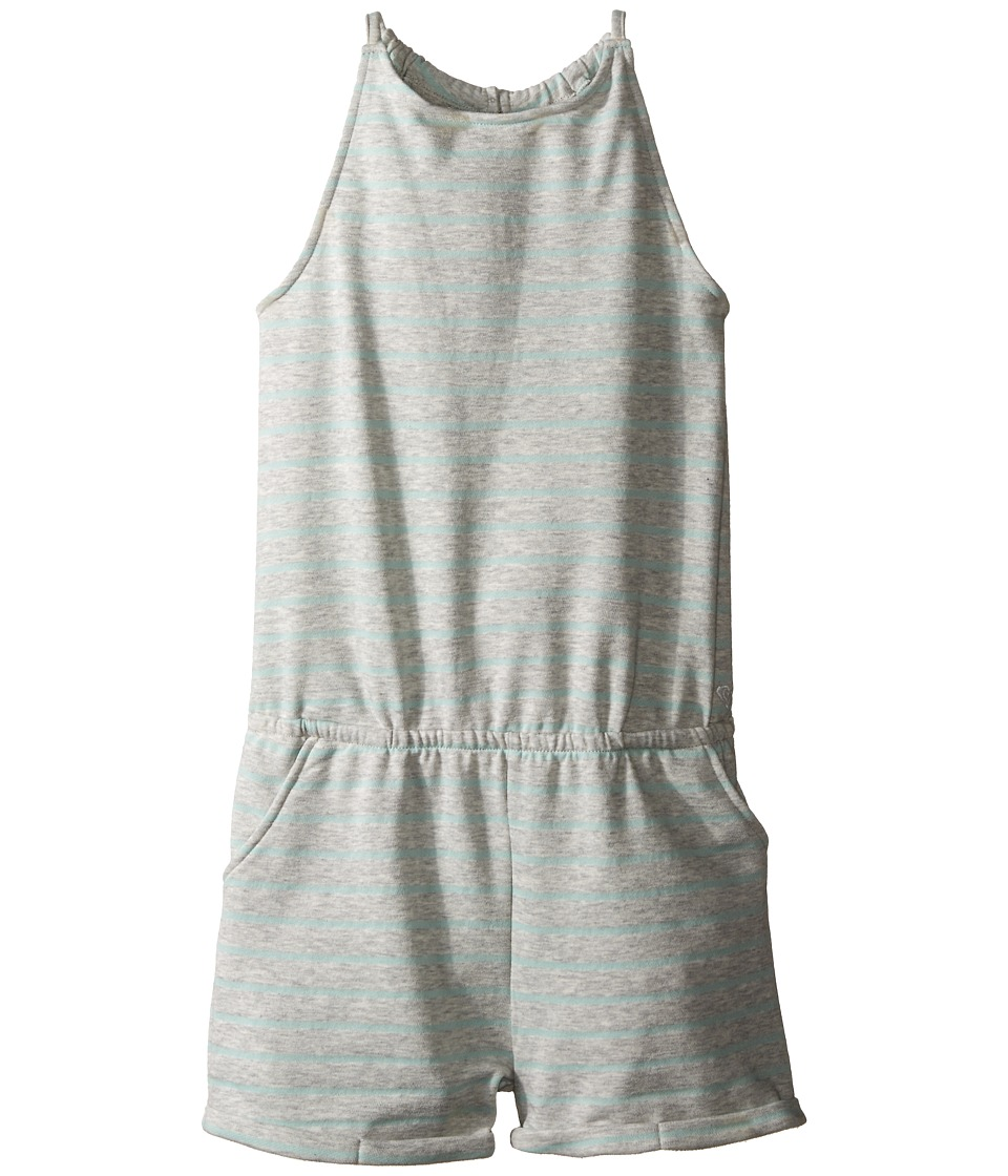 Roxy Kids - Plant A Romper (Big Kids) (Medium Heather) Girl's Jumpsuit & Rompers One Piece