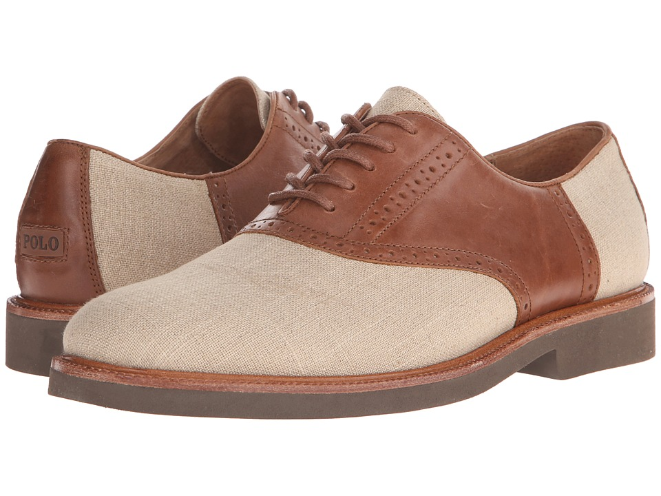 Polo Ralph Lauren Torrington (Natural/Polo Tan Flax Linen/Burnished Leather) Men
