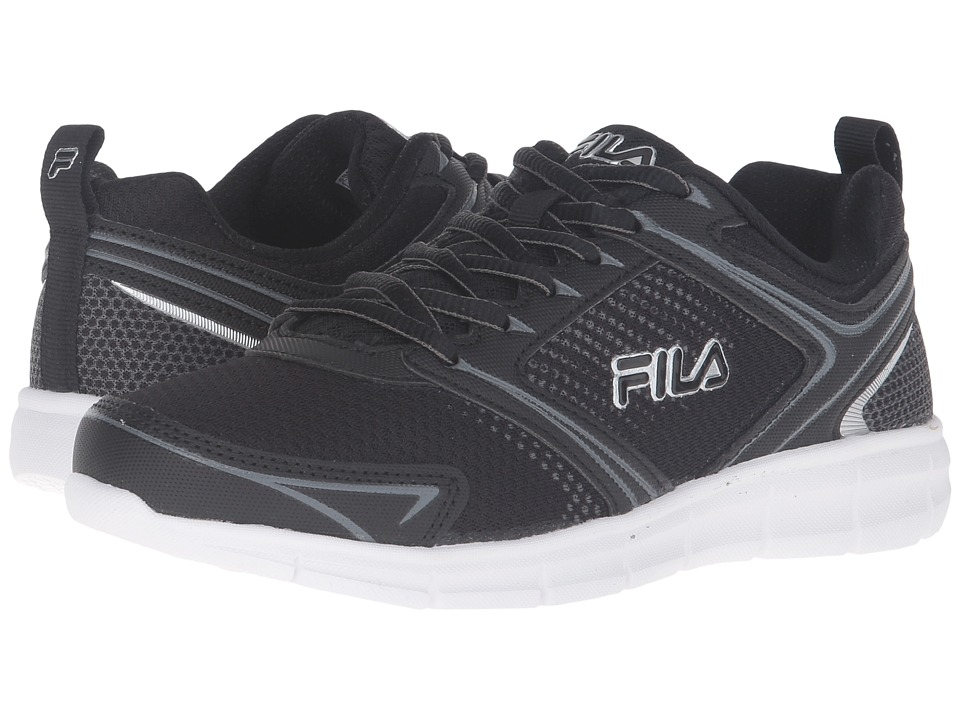 Fila - Windstar 2 (Black/Black/Metallic Silver) Women