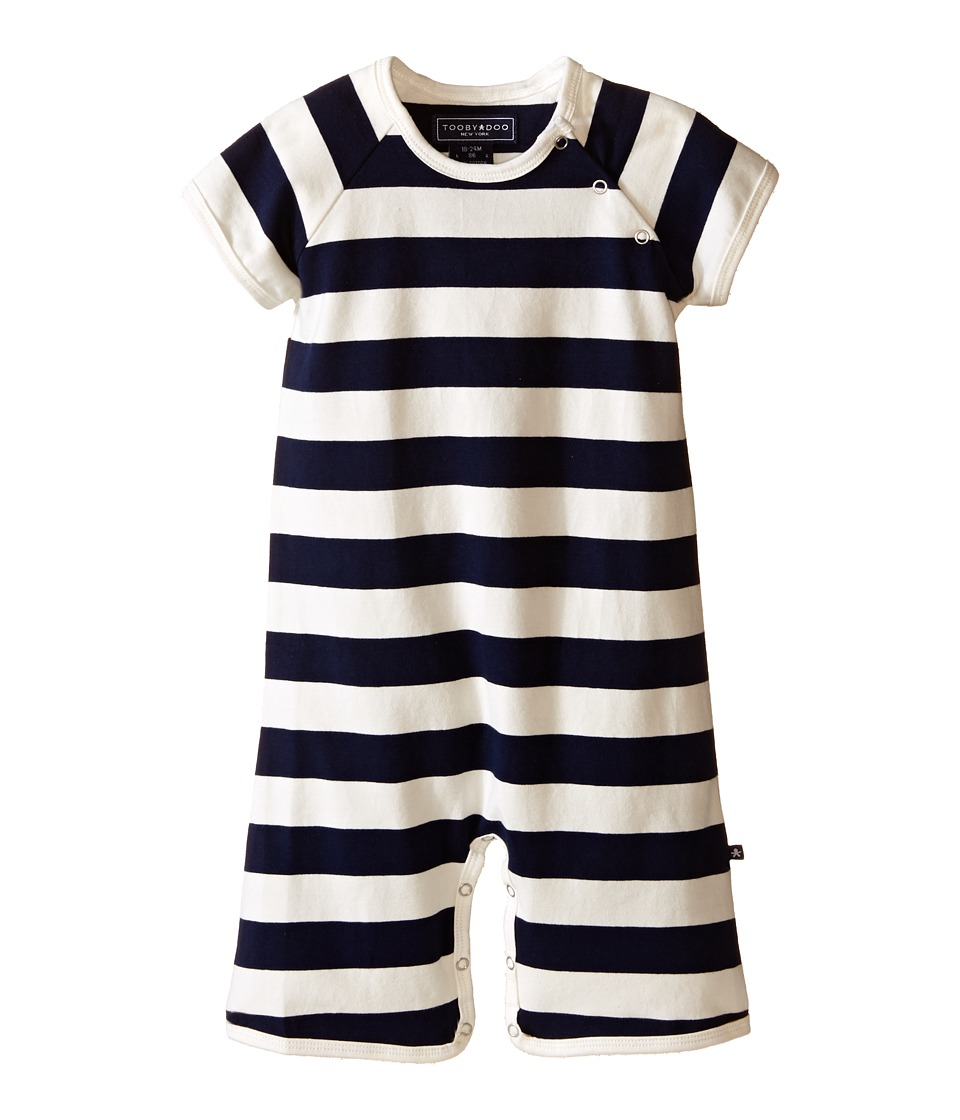 Toobydoo - Navy/White Shortie Jumpsuit (Infant) (Navy/White) Boy's Jumpsuit & Rompers One Piece