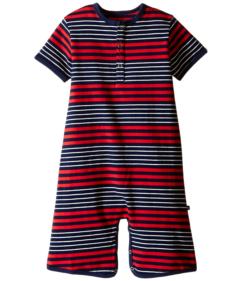 Toobydoo - Red/Navy Stripe Shortie Jumpsuit (Infant) (Navy/White/Red) Boy's Jumpsuit & Rompers One Piece