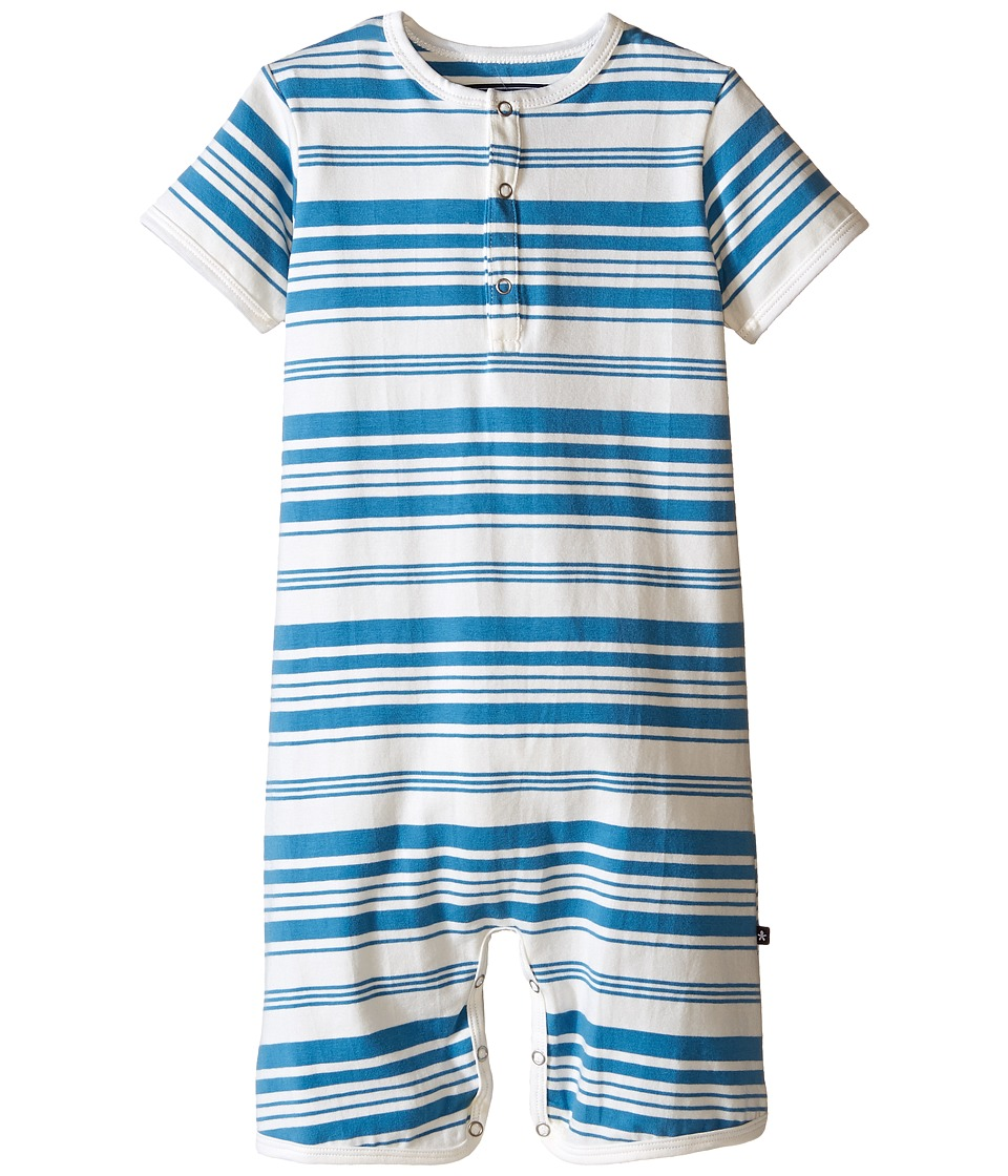 Toobydoo - Light Blue/White Shortie Jumpsuit (Infant) (Blue/White) Boy's Jumpsuit & Rompers One Piece